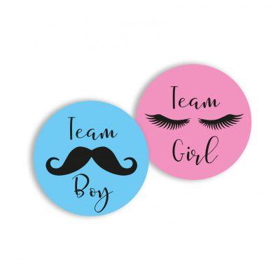 Aufkleber (16 Stk.) - Team Boy und Team Girl