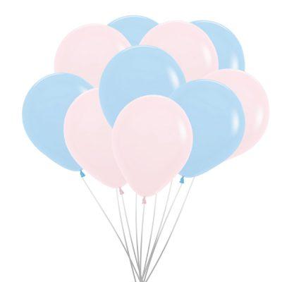 Ballons (10 St.) – Pastell matt, Rosa und Blau