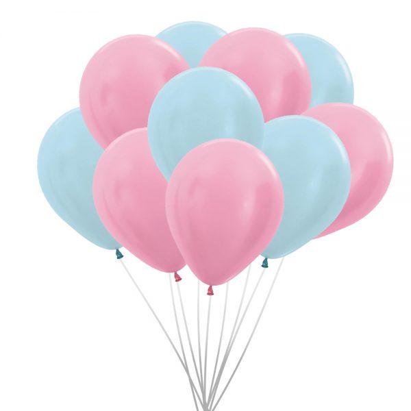 Ballons (10 St.) - Perle, Rosa und Blau