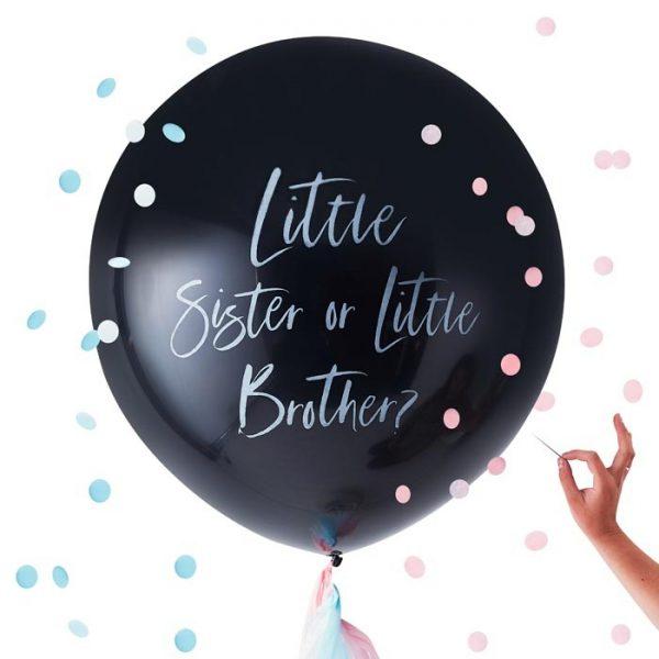 Gender Reveal – Ballonpaket, Bruder oder Schwester?