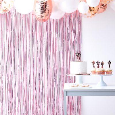 Gender Reveal - Hintergrund, Party-Vorhang rosa