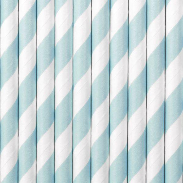 Gender Reveal - Papier Strohhalme blau (10 St.)