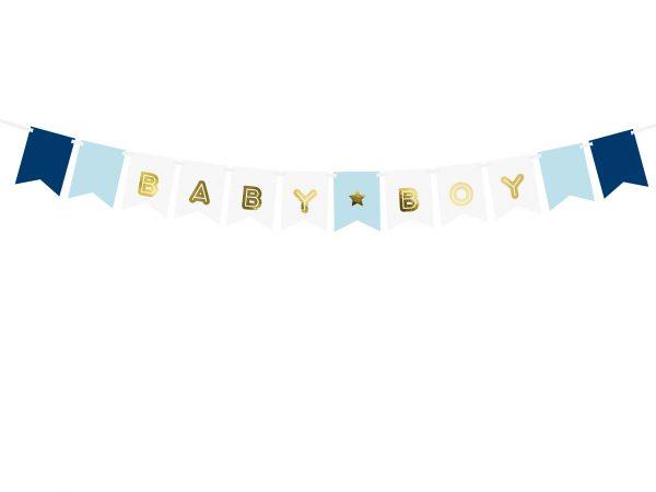 Girlande Baby Boy blau