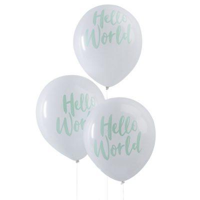 Hallo Welt Ballons (10 St.)
