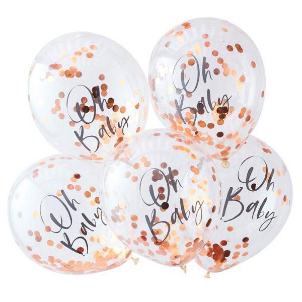Konfetti Ballons (5 St.) - Roségold