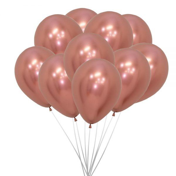 Ballons (10 St.) - Gold, metallic