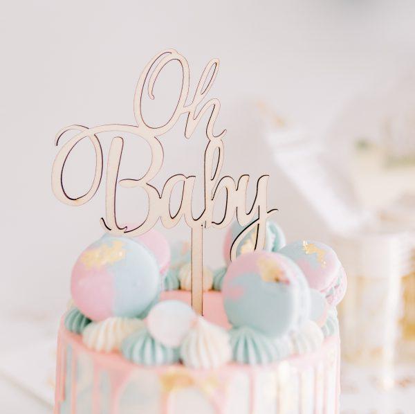 Geschlecht offenbaren Kuchen - Macaron Drip Kuchen