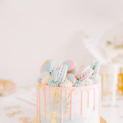 Geschlecht offenbaren Kuchen - Meringue