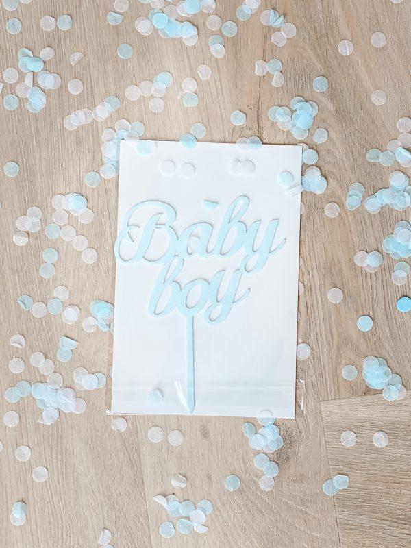 Tortendeckel - Baby Boy, Baby Girl - Jongen