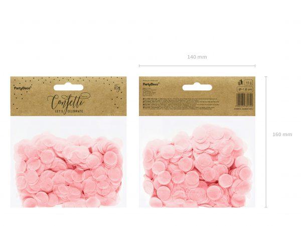 Tisch Konfetti rosa