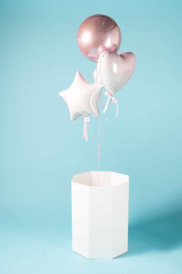 gender reveal ballonnen doos